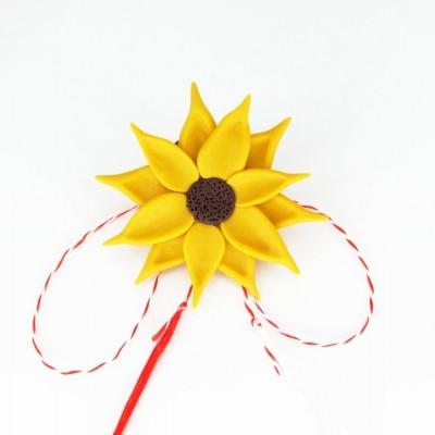 Broșă Sunflower