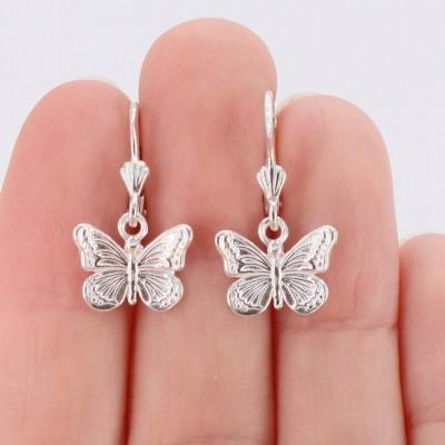 Cercei Butterfly Love (fluturi argint)