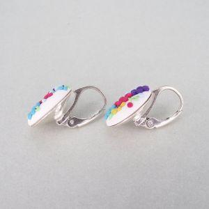 Cercei argint Charming Colours