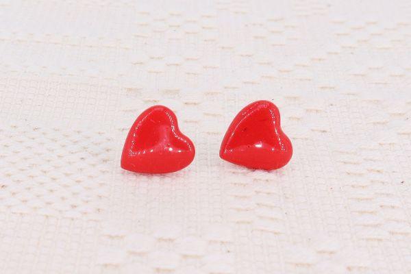 Cercei argint inimă roșie Sweetheart