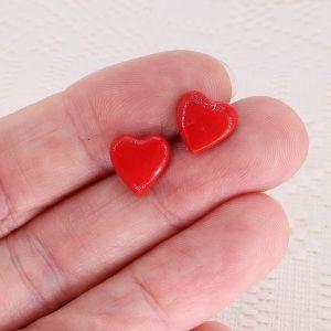 Cercei inimă roșie Sweetheart