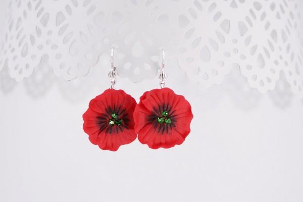 Cercei  argint Poppy Flower