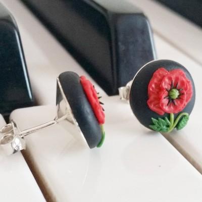 Cercei argint Poppy Love