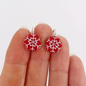 Cercei argint Snowflakes