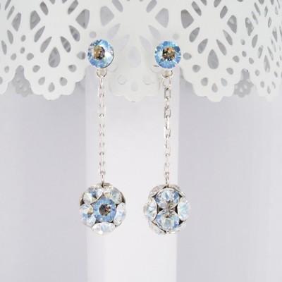Cercei argint cu cristale Swarovski Moonlight Rocking Stones