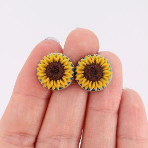 Cercei cu șurub Sunflower