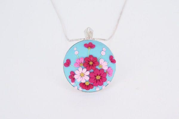 Pandantiv argint Enchanted Flowers