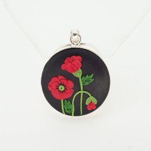 Pandantiv argint Poppy Love