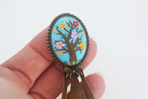 Semn de carte Copacul cu flori