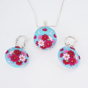 Set argint Enchanted Flowers