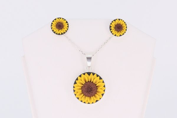 Set argint Sunflower