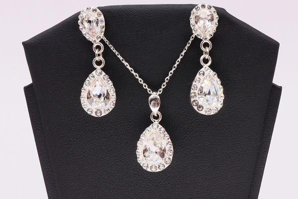 Set argint cu cristale Swarovski Pure Romance