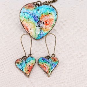 Set bijuterii Rainbow Heart
