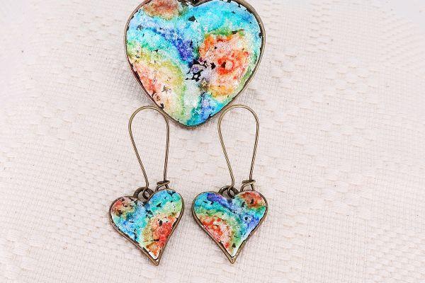 Set bijuterii Rainbow Heart